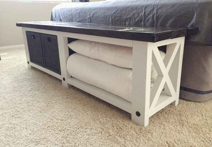 2. Bedroom Bench with Storage via Simphome