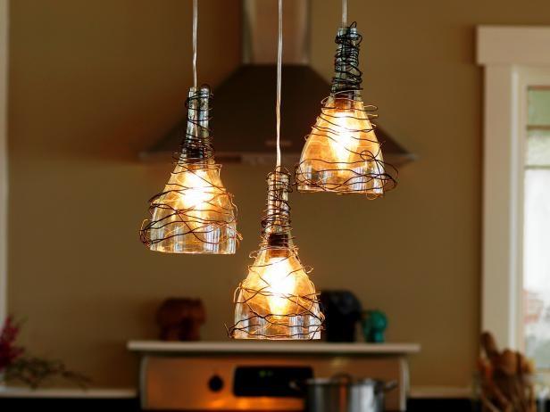 4. Stunning Upcycled Pendant Lights via Simphome