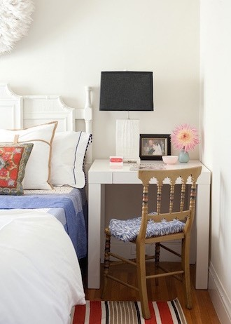 5. Consider a Desk as Your Night Stand via Simphome