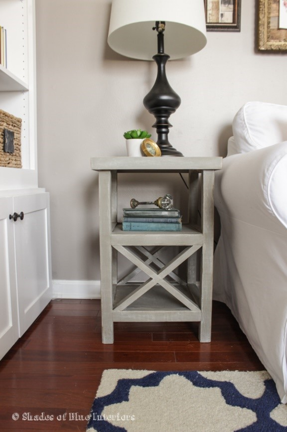 6. Side Table with X End via Simphome