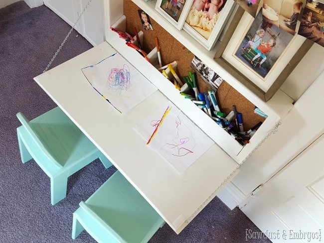 1. Craft Desk with Storage via Simphome