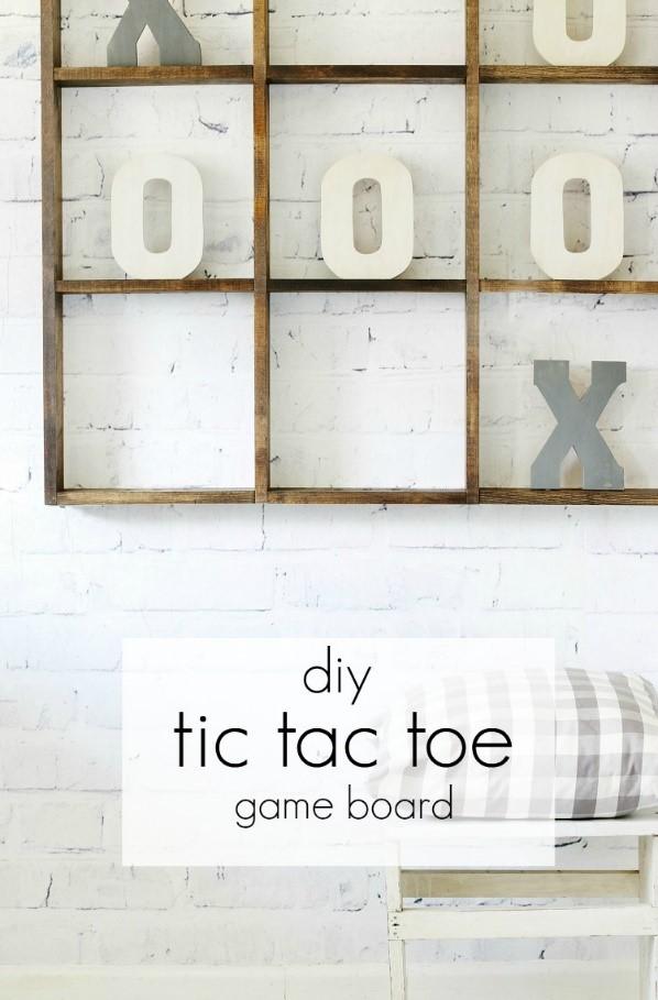 10. Big Tic Tac Toe Board via Simphome