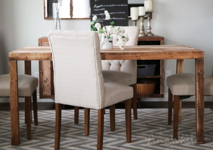 2. Reclaimed Wood Dining Table via Simphome