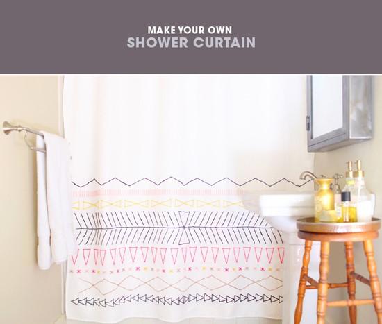 4. Craft Time with Shower Curtain via Simphome