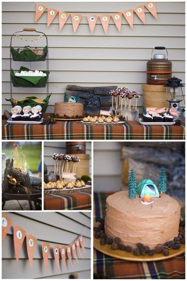 4 .Birthday Party with Camping Theme for Boys via SIMPHOME.COM