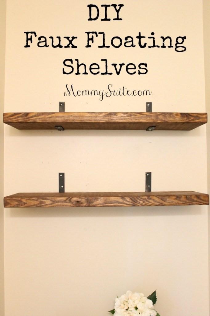 7. Simple Floating Shelves via SIMPHOME.COM