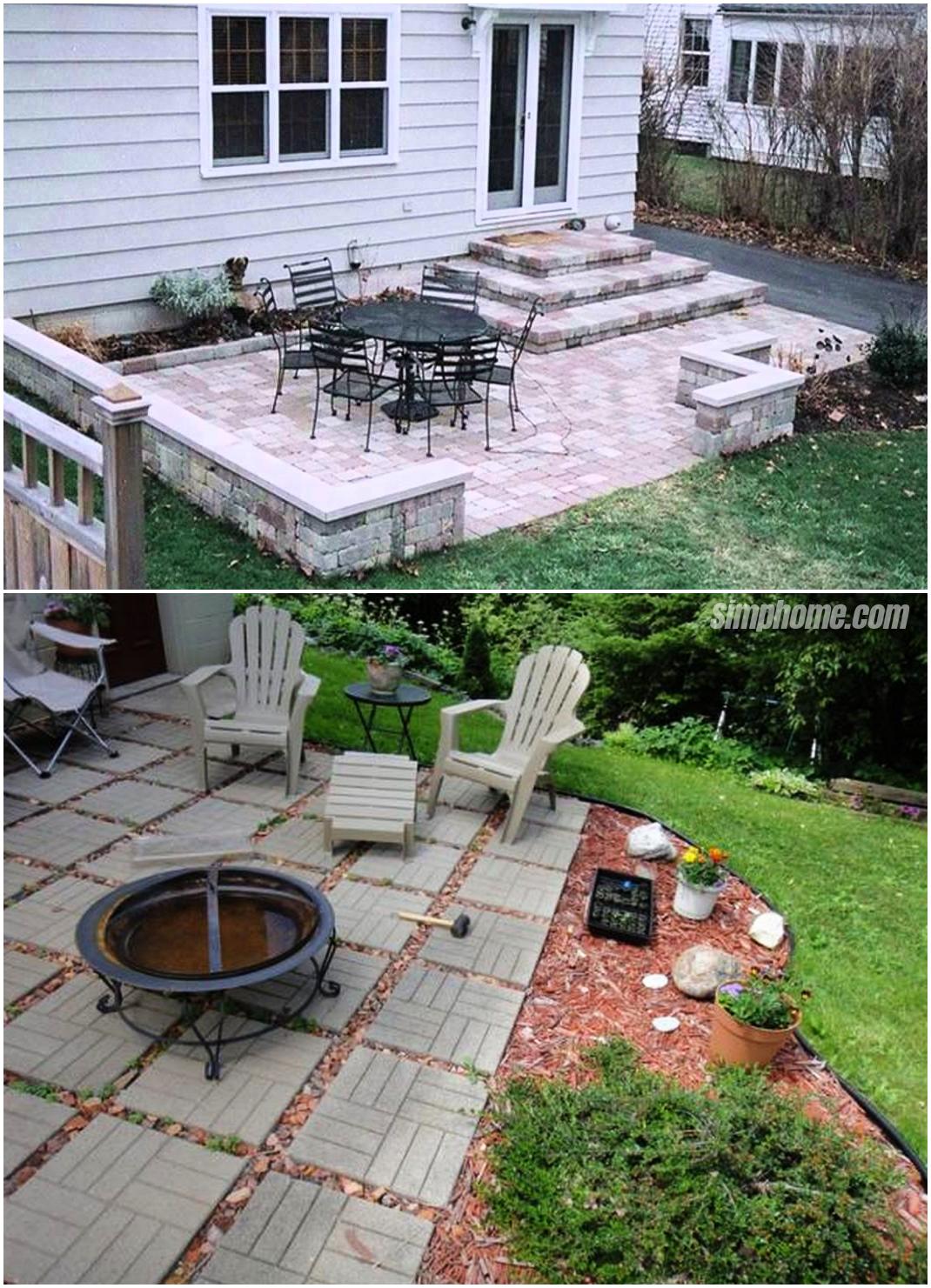 ideas how to makeover concrete patio