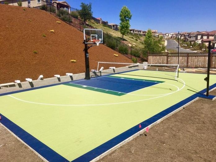 2. SIMPHOME.COM - Multi-Purpose Half-Basketball Court