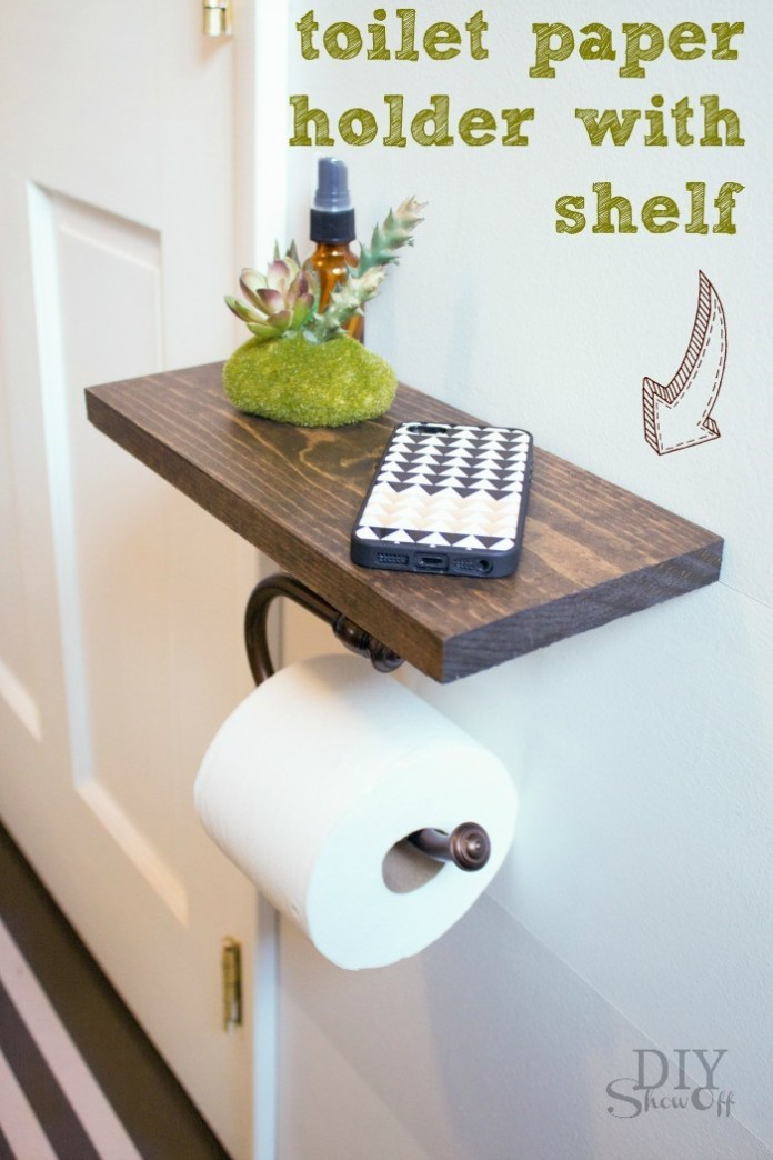 8. Toilet Paper Holder via SIMPHOME.COM