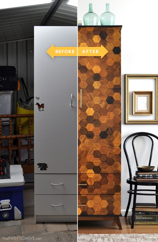 7. SIMPHOME.COM Hexagonal Style Cupboard