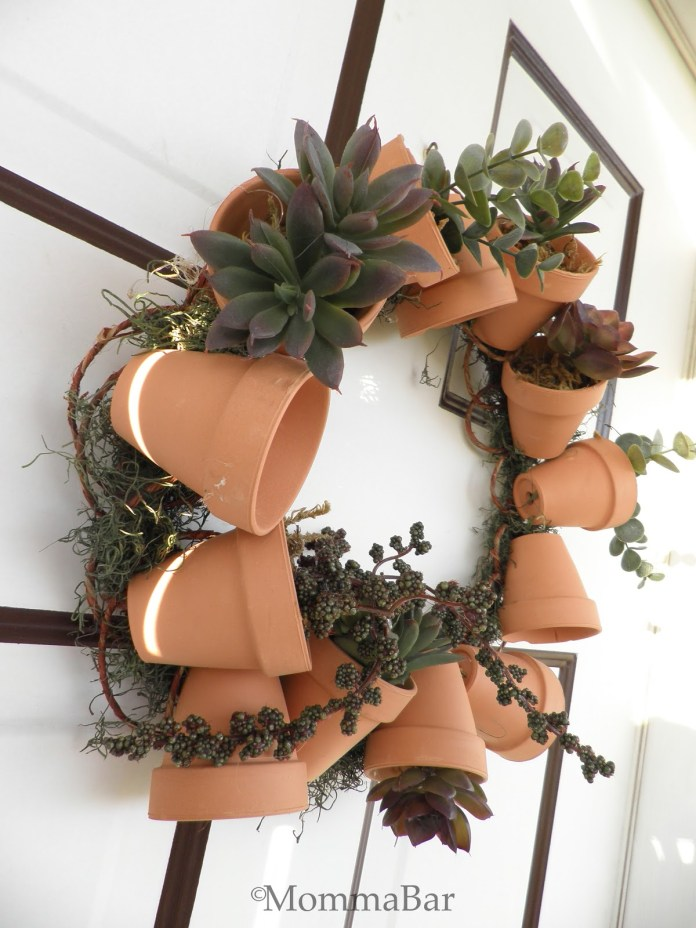 7.SIMPHOME.COM Flower Pot Wreath