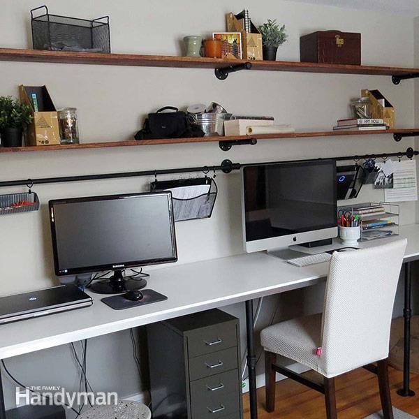 8.SIMPHOME.COM Desk with Extra Storage