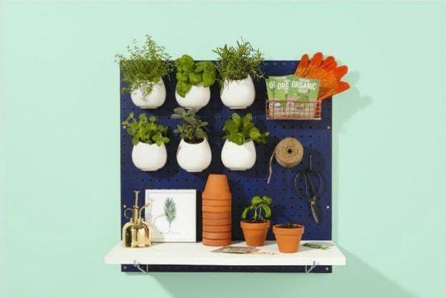 9.Simphome.com Pegboard Herb Garden 1