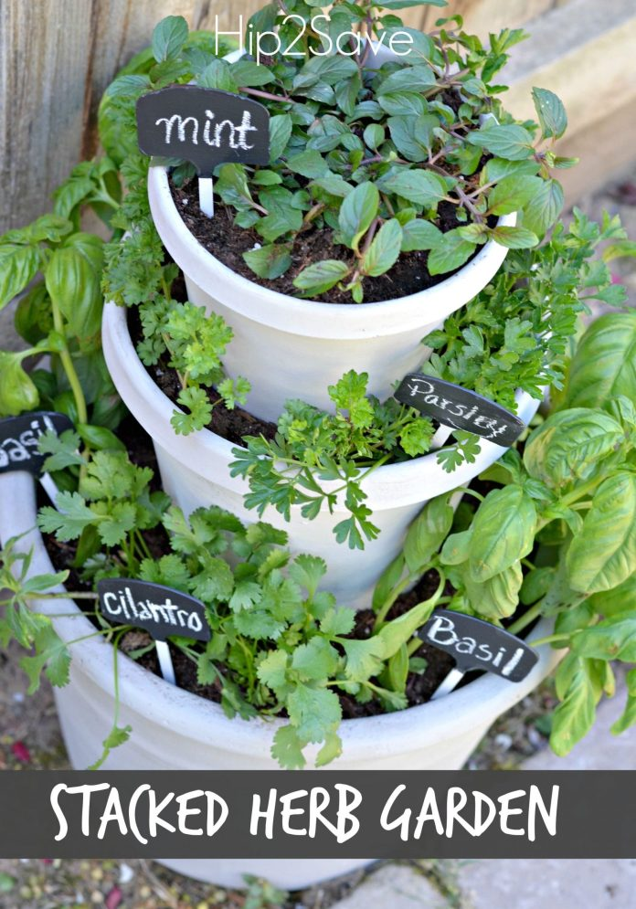 Simphome.com diy stacked herb garden gardening and outdoors pinterest herb within potted herb garden ideas