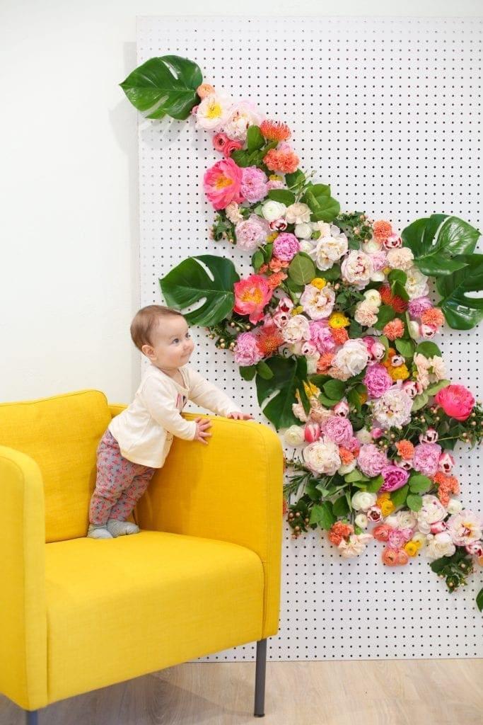 1.Simphome.com Flower Wall for Photo Backdrop