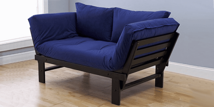 10. Simphome.com A Small Futon Turns into a Loveseat