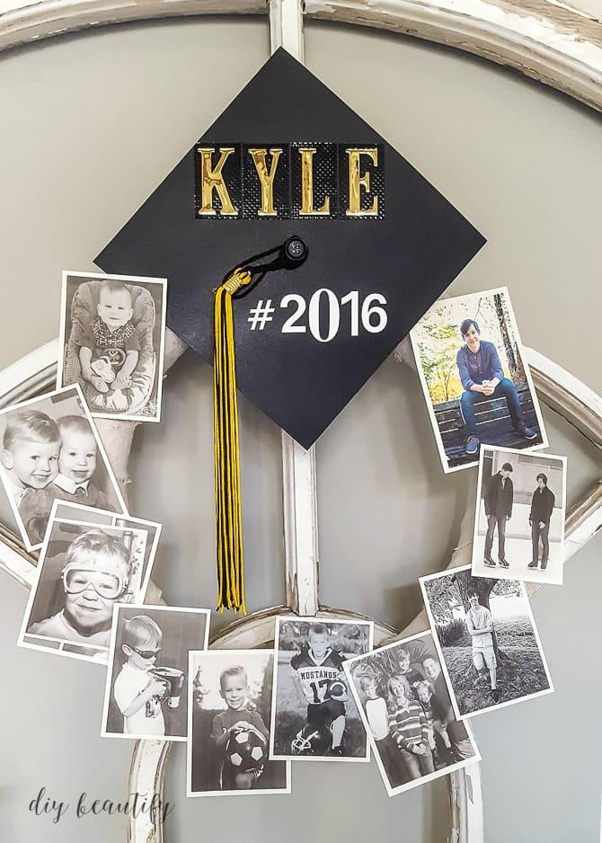 10.Simphome.com Hang Graduation Photo Wreath