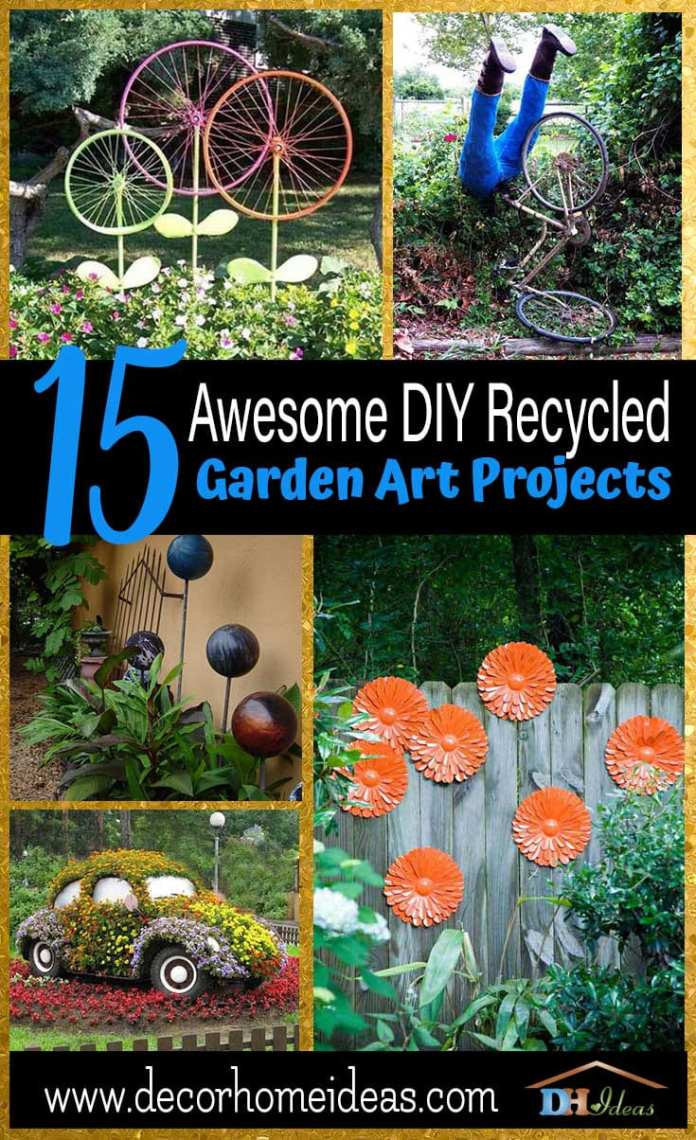 Simphome.com awesome diy recycled garden art projects in 10 diy garden art ideas stylish and beautiful