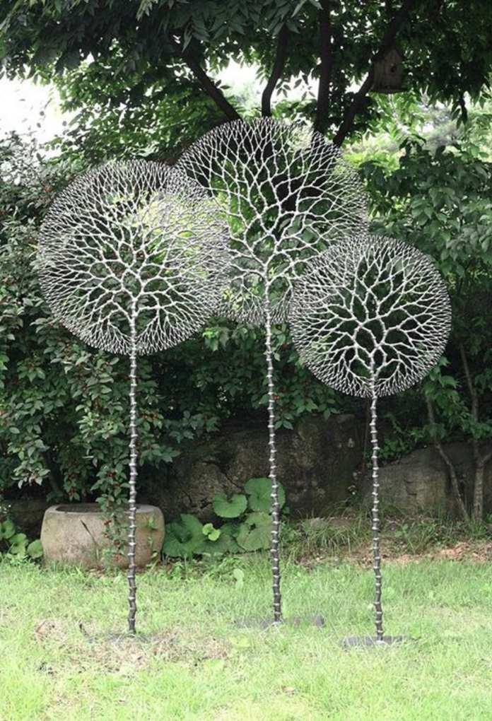 Simphome.com beautiful diy garden art ideas for your backyard garden with regard to diy garden art ideas