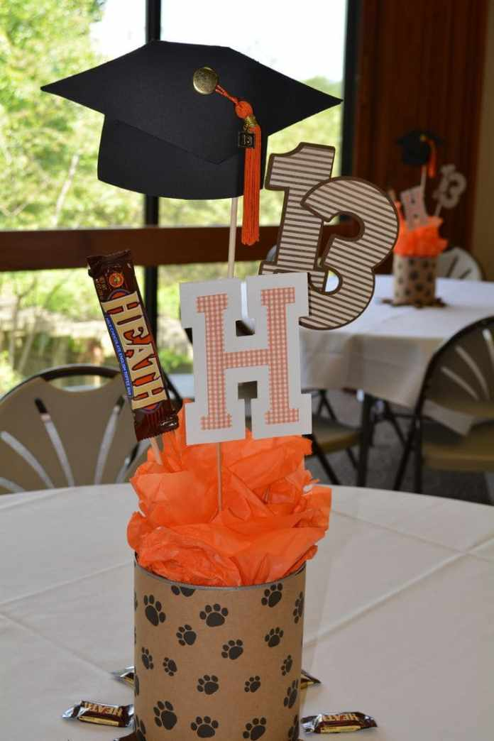 Simphome.com grad ball ideas on pinterest graduation ideas grad with graduation centerpieces for tables