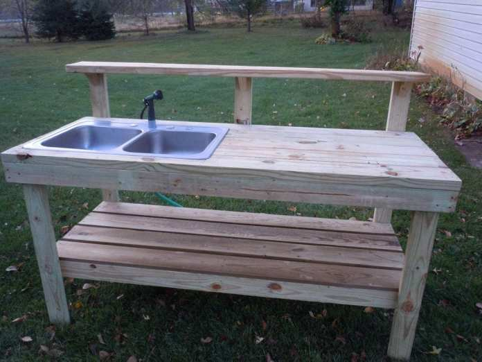 Simphome.com potting table gardening pinterest outdoor potting bench inside garden sink ideas 2020 2021 2022