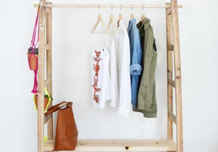 1.Simphome.com A Ladder Wardrobe Project idea 2