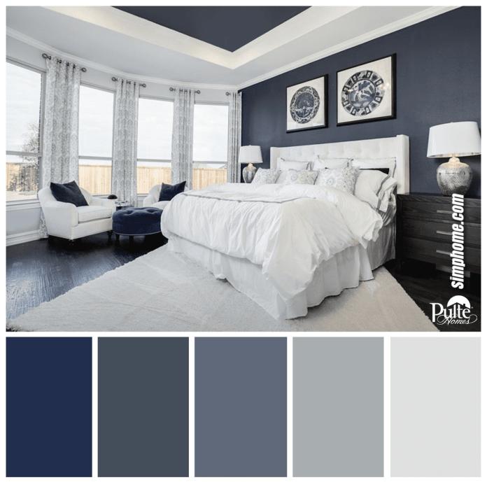 Simphome.com a bedroom design has the right idea the rich blue color palette pertaining to bedroom color palette ideas