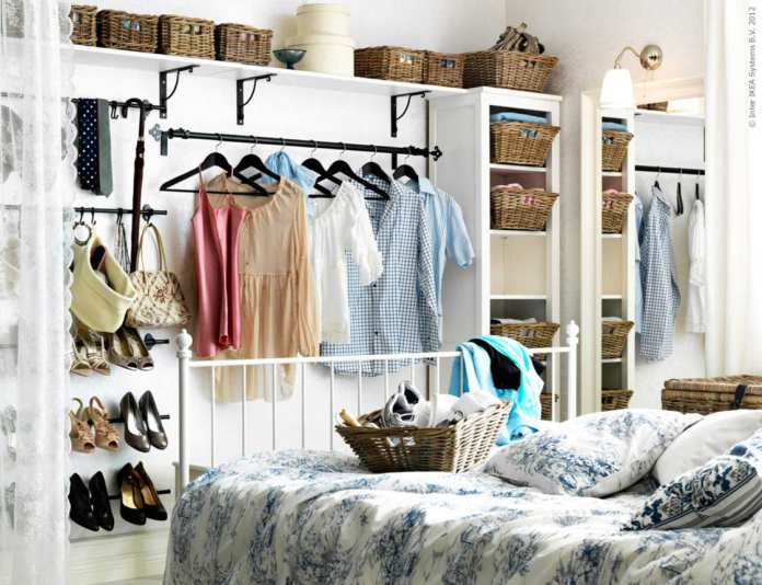Simphome.com clothing storage ideas for small bedrooms complete with shoe storage
