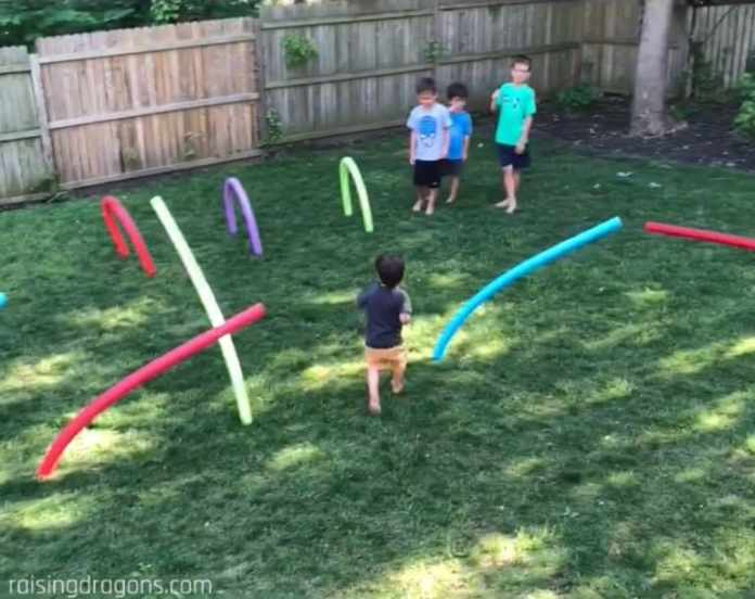 9.Pool Noodle Obstacle Ideas by Simphome.com 1