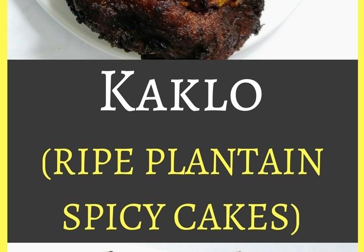 Kaklo (ripe plantain spicy cakes)