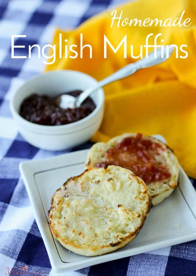 homemade English muffins pin