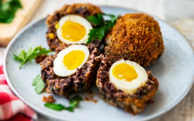 Scotch Eggs with Black Pudding