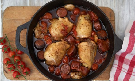 Chicken and Chorizo one pot bake