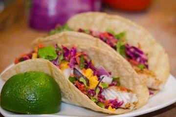 Baja Style Fish Tacos with Tilapia