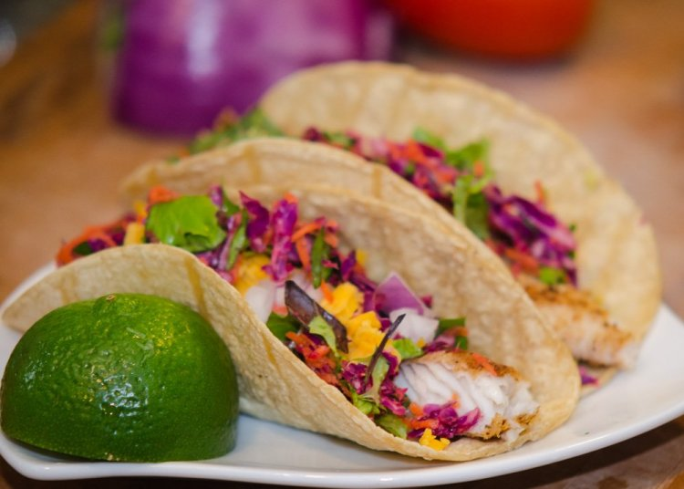 Baja Style Fish Tacos with Tilapia