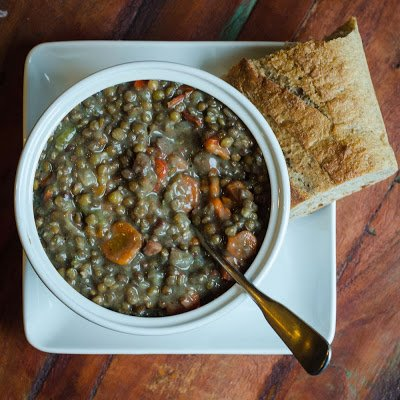 Ham Lentil and Vegetable Soup in the Pressure Cooker