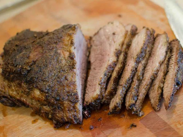 Slices of Beef Brisket from the Pressure Cooker