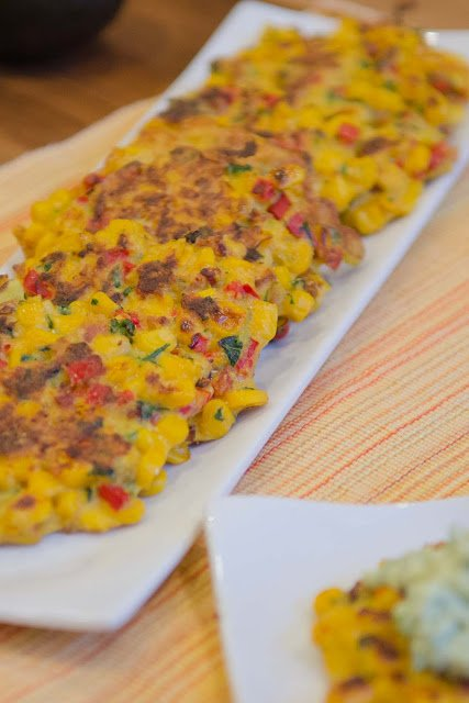 Corn and Yellow Squash Fritters