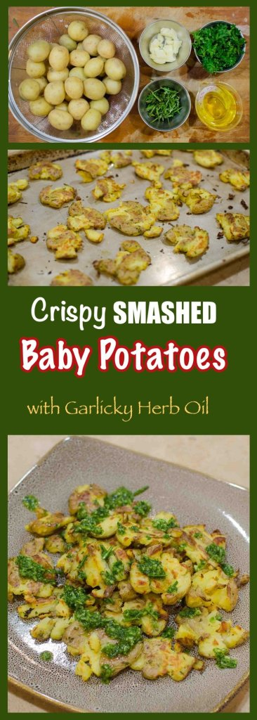 Crispy Smashed Baby Potatoes