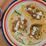 Air Fried Avocado Tacos with Cilantro Crema