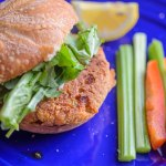 Air Fryer Canned Salmon Burgers
