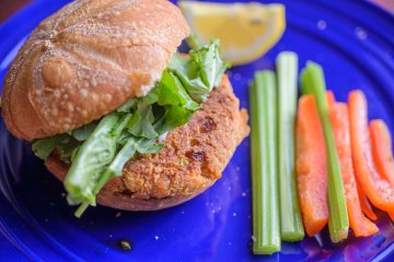 Salmon Burgers cooked in an Air Fryer