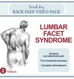 the contents of the lumbar facet syndrome video are  [ 1400 x 1400 Pixel ]