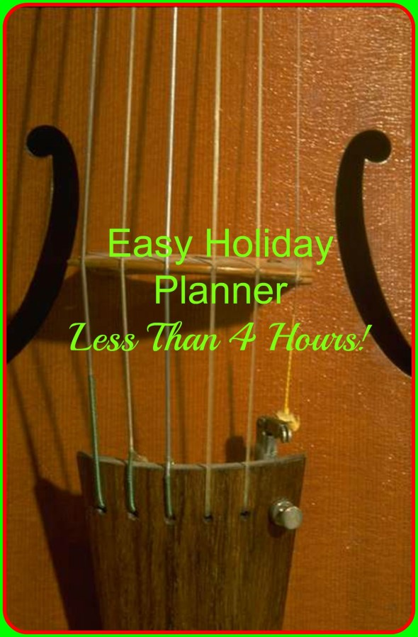 easy holiday planner