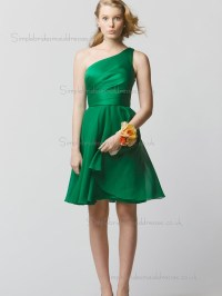 Cheap Stunning Green Short-length Chiffon Bridesmaid ...