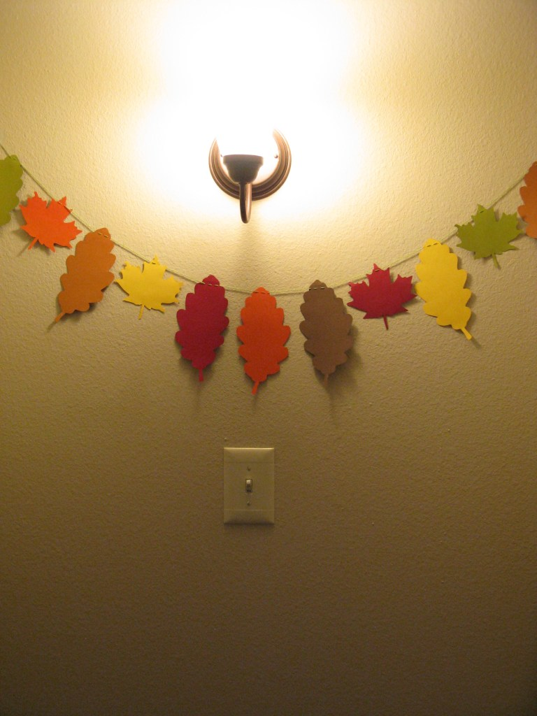 Autumn Leaves Paper Garland by SimpleBrightLife.com