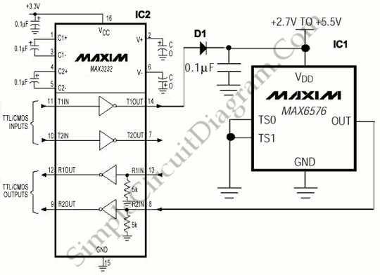 RS-232 Powered Temperature Sensor