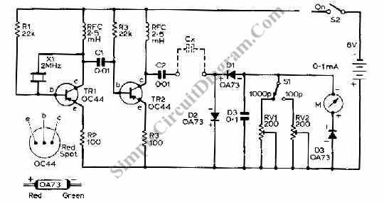 telderopart: inductance meter circuit