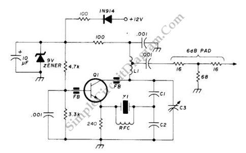 90-125 Mhz Crystal RF Oscillator