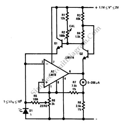Five-Decade Dynamic Light-Level Meter